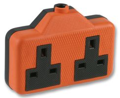 13A Rubberised Extension Socket - 2 Gang